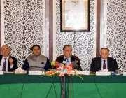 اسلام آباد: وفاقی وزیر خارجہ مخدوم شاہ محمود قریشی، فواد حسین چودھری ..