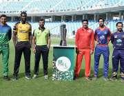 دبئی: پاکستان سپر لیگ سیزن فور کا حصہ بننے والی6ٹیموں کے کپتانوں کا ..