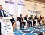 """کراچی: وفاقی وزیر سائنس و ٹیکنالوجی چوہدری فواد حسین """"فیوچرسمٹ"""" کے .."""