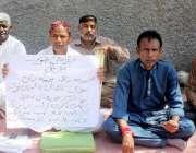 حیدر آباد: بلدیہ اعلیٰ کے جونیئر کلرک انصاف کے لیے احتجاج کر رہے ہیں۔