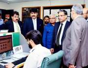 کراچی: وفاقی محتسب سید طاہر شہباز گورنر ہاؤس میں سینٹرل رپورٹنگ سیل ..