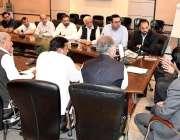 اسلام آباد: صدر آئی سی سی آئی احمد حسن مغل تاجر برادری کے وفد کے ساتھ ..