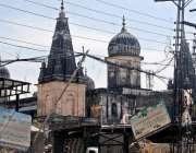 راولپنڈی: باغ سرداراں کے علاقہ میں بنے مندر کا منظر۔