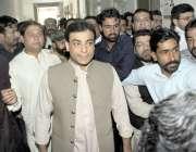 لاہور: پنجاب اسمبلی میں قائد حزب اختلاف حمزہ شہباز احتساب عدالت میں ..