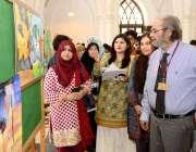 لاہور: جی سی یونیورسٹی لاہور میں انٹر یونیورسٹی ماحولیاتی مقابلوں ..