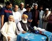 لاہور: جمعیت علماء اسلام (ف) کے سربراہ مولانافضل الرحمن میڈیا سے گفتگو ..