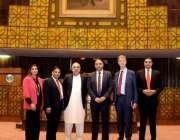 اسلام آباد: اسپیکرقومی اسمبلی اسد قیصر کا برطانیہ کے 5رکنی پارلیمانی ..