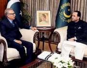 اسلام آباد: صدر مملکت ڈاکٹر عارف علوی سے وزیر اعلیٰ گلگت بلتستان حافظ ..