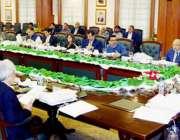لاہور : صوبائی وزیر خزانہ مخدوم ہاشم جواں بخت کابینہ کمیٹی برائے فنانس ..