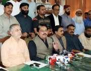حیدر آباد: ایم کیو ایم پاکستان کے ایم این اے صابر قائم خانی پریس کانفرنس ..