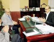 اسلام آباد: وفاقی وزیر صحت عامر محمود کیانی سے ڈاکٹر نیمہ سعیدملاقات ..