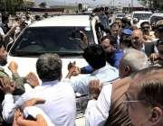 اسلام آباد: چیئرمین پی پی پی بلاول بھٹو زرداری نیب عدالت پیشی کے لیے ..