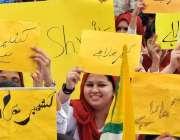 راولپنڈی: گورنمنٹ ڈگری کا لج ڈھوک رتہ میں کشمیر یکجہتی ریلی کے دوران ..