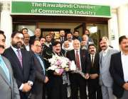 راولپنڈی: صدر آر سی سی آئی صبور ملک راولپنڈی چیمبر آف کامرس اینڈ انڈسٹری ..