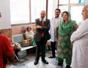 لاہور: صوبائی وزیر صحت ڈاکٹر یاسمین راشد گنگا رام ہسپتال کے مسافر خانے ..