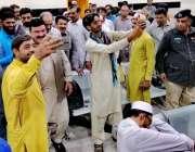 لاہور: وفاقی وزیر ریلوے شیخ رشید احمد کے دورہ ریلوے اسٹیشن کے موقع پر ..
