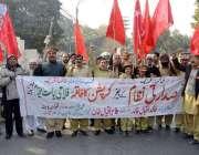 لاہور: خاکستان تحریک کے ارکان مطالبات کے حق میں احتجاج کر رہے ہیں۔