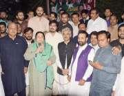 لاہور: صوبائی وزیر صحت ڈاکٹر یاسمین راشد تحریک انصاف کے رہنما چوہدری ..
