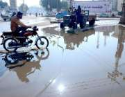 حیدر آباد:لطیف آباد میں سیوریج کی پانی کے باعث شہریوں کو مشکلات کا سامنا ..