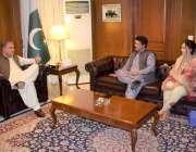 اسلام آباد: وفاقی وزیر خارجہ شاہ محمود قریشی سے تحریک انصاف کے مرکزی ..