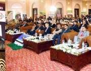 اسلام آباد: صدر مملکت ڈاکٹر عارف علوی ایک سیمینار سے خطاب کررہے ہیں۔