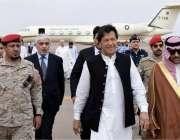 مدینہ منورہ: وزیر اعظم عمران خان سعودی عرب کے تین روزہ دورے پر مدینہ ..