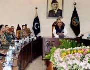 پشاور: گورنر شاہ فرمان خیبر پختونخوا اپیکس کمیٹی کے اجلاس کی صدارت ..