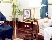 اسلام آباد: صدر مملکت ڈاکٹر عارف علوی سے وفاقی وزیر انفارمیشن ٹیکنالوجی ..
