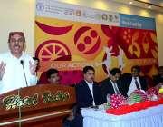 حیدرآباد: سندھ کے وزیر زراعت محمد اسماعیل راہو اقوام متحدہ کے فوڈ اینڈ ..