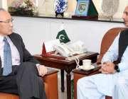 اسلام آباد: وفاقی وزیر اطلاعات و پٹرولیم عمر ایوب خان سے جاپان کے سفیر ..