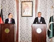 اسلام آباد: وزیر خارجہ شاہ محمود قریشی اور جرمن وزیر خارجہ ہائیکوماس ..