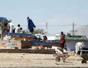 کوئٹہ: صوبائی دارالحکومت میں مزدور کوئ پھٹک میں چورنگی کی تعمیراتی ..