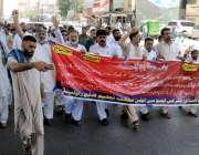 راولپنڈی: آل پاکستان کلرکس ایسوسی ایشن محکمہ تعلیم کے اہلکار پریس کلب ..