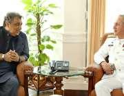 اسلام آباد: پاک بحریہ کے سربراہ ایڈمرل ظفر محمود عباسی نیول ہیڈ کوارٹرز ..