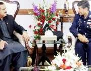 لاہور: وزیر اعلیٰ پنجاب سردار عثمان بزدار سے ایئر آفیسر کماڈنگ سنٹرل ..