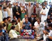 حیدر آباد: پی ٹی آئی پارلیمنٹری لیڈر سند اسمبلی حلیم عادل شیخ جی او ..