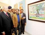 لاہور: گورنر پنجاب چوہدری محمد سرور آرٹسٹ ایسوسی ایشن پنجاب کے زیر ..