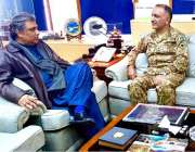 اسلام آباد: وزیر مملکت سید علی حیدر زیدی سے جنرل سید انعام حیدر ملاقات ..