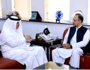 اسلام آباد: سعودی عرب کے سفیر مملکت نواف بن سید المالکی نے وفاقی وزیر ..