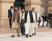 لاہور: صوبائی وزیر ہاؤسنگ میاں محمود الرشید پنجاب اسمبلی اجلاس میں ..