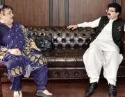 اسلام آباد: چیئرمین سینیٹ محمد صادق سنجرانی سے وفاقی وزیر برائے انسانی ..