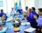 اسلام آباد: پاکستان تحریک انصاف کی مرکزی تنظیم کے اجلاس میں شمالی وزیرستان، ..