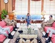 اسلام آباد: وزیر اعظم عمران خان سے چیئرمین جائنٹ چیفس آف کمیٹی اینڈ ..