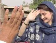 ظفر وال: مسلم لیگ (ن) کی نائب صدر مریم نواز ظفر وال آمد کے موقع پر کارکنوں ..