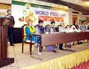 لاہور : صوبائی وزیر خوراک سمیع الله چوہدری ورلڈ فوڈ ڈے کے موقع پرتقریب ..