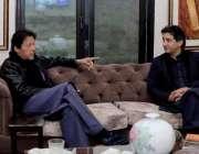 اسلام آباد: وزیرِ اعظم عمران خان سے خیبر پختونخوا کے سینئروزیر عاطف ..