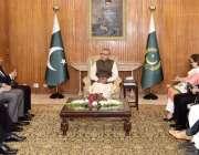 اسلام آباد: صدر مملکت ڈاکٹر عارف علوی سے انسٹی ٹیوٹ آف چارٹرڈ اکاؤنٹنٹس ..