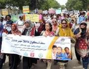 حیدر آباد:سندھ سکول ایڈمیشن کمپین2019ء کے سلسلہ میں گورنمنٹ سکولز کے ..