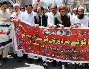 سوات: چیئرمین ڈیڈیک فصل حکیم خان رحیم آباد یوم مزدور کے موقع پر واک ..