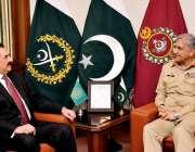 راولپنڈی: آرمی چیف جنرل قمر جاوید باجوہ سے اسلامی فوجی اتحاد کے سربراہ ..